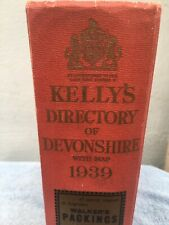 1939 Kellys Directory Of Devonshire With Map