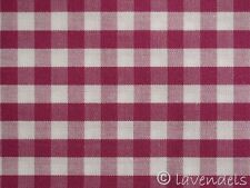 75x148 Vichy Karo Stoff ♥ rubinrot Baumwolle kariert rosa erika altrosa rot 0,5