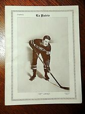 """ALFRED """"PIT"""" LEPINE   1927/28  """"La Patrie""""  MONTREAL CANADIANS #15   VERY  RARE"""