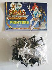 Playmakers Ninja Fighters Plastic Toy Soldier Figures Hong Kong unused vintage