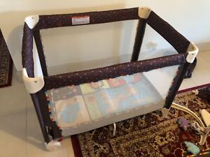 Fisher Price porta cot with bassinet and change table inserts, GUC