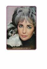 Vintage 1973 Beautiful Movie Star Elizabeth Taylor & Shih Tzu Puppy Dog Ad Print