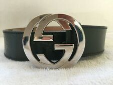 GUCCI INTERLOCKING GG GUCCI BELT SIZE 34 IN DARK GREEN LODEN COLOR