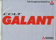 COLT MITSUBISHI GALANT  SALES BROCHURE AUGUST 1974 FOR 1975 MODEL YEAR