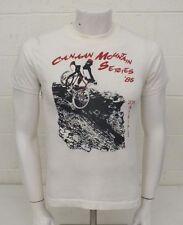 Vintage 1985 Canaan Mountain Bike Series White Graphic T-Shirt Men's Medium LOOK