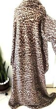 Snuggie Leopard Animal Blanket Has Sleeves Seen TV One Size Fits Warm Soft Brown