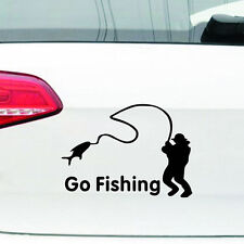 Men Go Fishing Car Sticker Reflective Car Styling Vinyl Decal Sticker for Cars