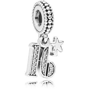 New Pandora Genuine Pendant Charm Dangle 16 YEARS OF LOVE 797261CZ S925 ALE