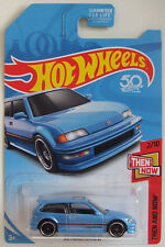 Hot Wheels 2018 '90 Honda Civic EF Blue HW Then & Now K-Mart Exclusive