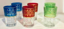 Moroccan Tea Glasses Set of 6 Hand-crafted Hand-made Gold Accent