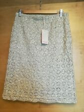 Monsoon Women's Gold Sequin pencil Skirt Size 10 12 Bnwt RRP £59 formal party