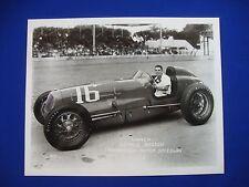 1946 Indianapolis 500 Winner George Robson Thorne Engineering 8x10 Photo Reprint