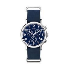 Timex Weekender 40mm Casa in Acciaio Inossidabile,Cinturino Pelle, Orologio da Polso per Uomo - (ABT003)