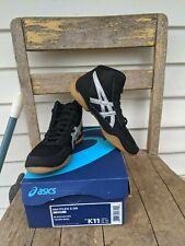 Asics Matflex 5 GS Kids Black/Silver Wrestling Shoes Size K11 NEW