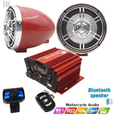 12V Motorcycle Bluetooth Anti-Theft Speakers USB Audio FM Radio System Stereo