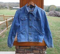 Vintage 60's Wrangler Old Farmer's Denim Jacket Well Worn Size 44