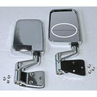 For Jeep Wrangler Yj Tj 87-02 Chrome Dual Focal Mirror Pair  X 11018.01