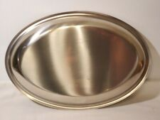 "14"" Kalmar Design Co. Vintage Danish STAINLESS STEEL Oval Platter 18/8  Denmark"