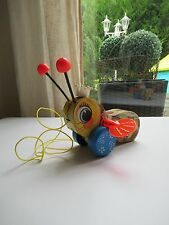 🏁 Ancienne Abeille A Tirer Fisher Price Rèf: 444 Queen Buzzy Bee Vintage