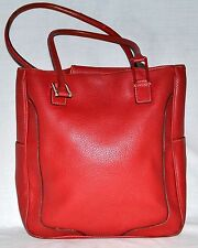 Tommy Hilfiger Orange Pebbled Faux Leather Tote Bag