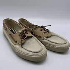 Sperry Top Sider Bahama Boat Shoe Tan & Off White Size 9M Men's