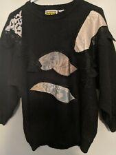 Vintage Black Patchwork Sweater