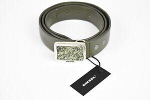 RRP $145 DIESEL B-MURBLE Men 100/40 Metal Buckle Leather Green Belt 17602