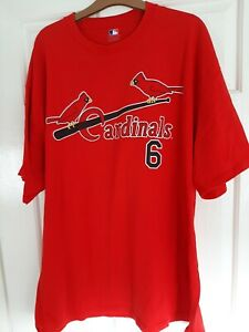 St Louis Cardinals Red T-Shirt XXL / 2XL - Musial 6