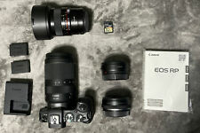 Canon EOS RP RF 26.2MP Mirrorless Camera - Black (with 24-240mm & 14mm lenses)