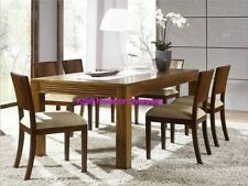 Comtempory Dining Set with 6 Chair set of Shesham Wood in Brown Colour