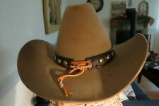 Vintage Brown Stetson 4X Beaver Cowboy Western Hat Size 7 1/8