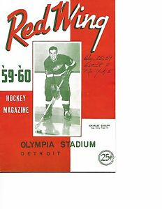 1959-60 Detroit Red Wings-Rangers Program Rangers Celebrate Christmas BEAUTY!!