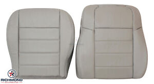 05-08 Dodge Magnum SE RT SXT-Driver Side Complete Leather Seat Covers Light Gray