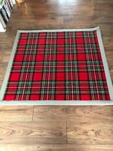 WOODWARD GROSVENOR Royal Stewart TARTAN Wool RUG Carpet TAPED EDGE - 51.5' x 48'
