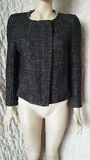 Isabel Marant Etoile 100% Wool Boucle Tweed Melange Jacket Short Coat size 2
