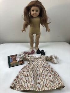 FELICITY American Girl DOLL Meet Outfit Book Pleasant Company Copper Hair Green