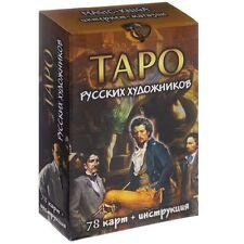 """Moderne Karten Deck """"Tarot Russische Künstler"""" 78 Sammlung Russisch Rare Deluxe"""