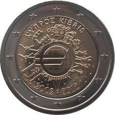 2€ Chypre 10 ans de l'euro 2012
