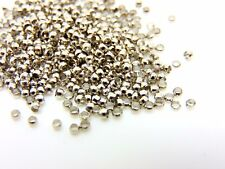 500 x 2mm Antique Silver Plated Round Crimp Beads Jewellery Findings B122