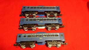 K-Line 3 Unit Electric Trains RDC Trainset K1933 B&O O-27 Gauge Budd Cars.
