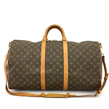 Auth Louis Vuitton Monogram Keepall Bandouliere 55 Boston Travel Hand Bag /70944