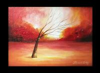 NEW ORIGINAL ACRYLIC MODERN ABSTRACT LANDSCAPE FRAMED SMALL PAINTING ON CANVAS