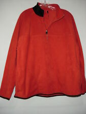 "Steve Barry's New Red 100%Polyester 8""Zip Long Sleeve Fleece Pullover Size 18-20"