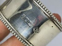Vintage Silver napkin ring Solid Silver London 1901.