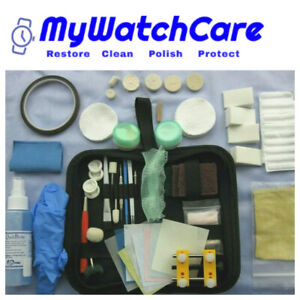 Watch Scratch Remover, Polishing and Cleaning Kit with Step by Step Guide