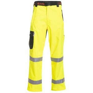 Grundens Weather Watch Workwear Pants ANSI Class E Hi-Vis Yellow Gage Rain Gear