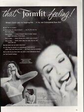 Vintage advertising print ad FASHION Formfit Feeling Rave Bra So Ecstatic 1960