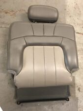 2004 Right GMC ENVOY XL 3rd Row Leather Back Seat Back W/HeadRest Shale Pewter