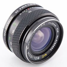 Soligor MC 28mm f2.5 manual prime lens for Pentax P PK mount - film and digital