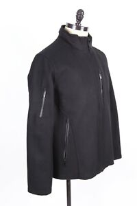 TUMI T-TECH Black Wool Insulated Coat Jacket Mens Size Large